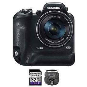 Cámara Inteligente Digital Samsung Wb2200f - Negra + 32gb Y