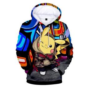 Moletom Canguru 3d Full Unissex Roupa Pikachu Pokémon 1996 . 0646aa8f1f5