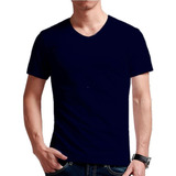Camisetas Cuello En V Colores En Algodón 180 Gr.