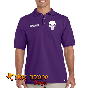 Playera Polo Super Héroes Punisher By Tigre Texano Designs
