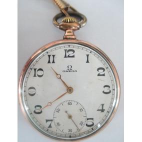 6380047b310 Raro Relógio De Bolso Omega Com Desenho De Uma Maria Fumaça ...