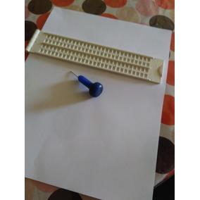 Paquete Regleta Para Braille, Punzón Y 100 Hojas Escritura