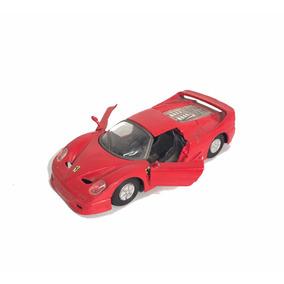 Carro Ferrari De Coleção Vermelho Ferro Brinquedo Carrinho