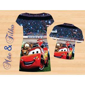 Vestido E Blusa Mãe E Filho - Cars Tema 1