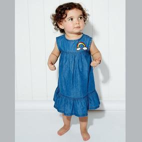 Vestido Niña Bebe Tipo Mezclilla Mod 6820 Baby Pink