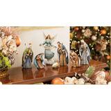 Figuras De Navidad Del Nacimiento De Jesus. Angel, Reyes