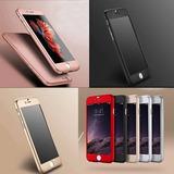 Funda Policarbonato Y Cristal Templado Iphone 6 7 8 Plus