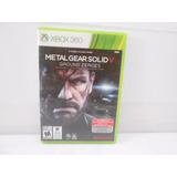Juego Para Xbox360 Metal Gear Solid V. Envió Gratis!!