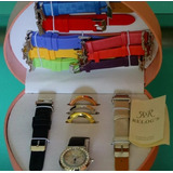 c9945641229 Kit Relógio Troca Pulseiras R r Feminino Com 10 Pulseiras