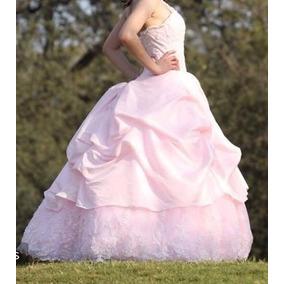 Vestido Rosa De Xv Años (ramo Gratis)