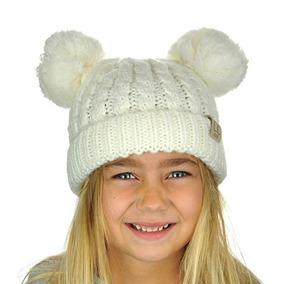 Gorro De Invierno Para Niñas Y Niños Con Pompones Ivory K223 00886e51b2a