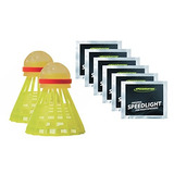 Speedminton Night Play Set De Pajaritos De Badminton Incluye