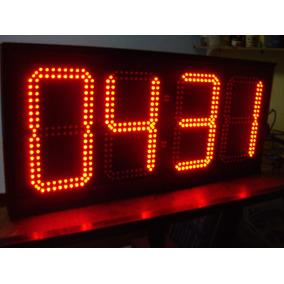 Reloj Digital De Leds Cronómetro Control Remoto Exteriores