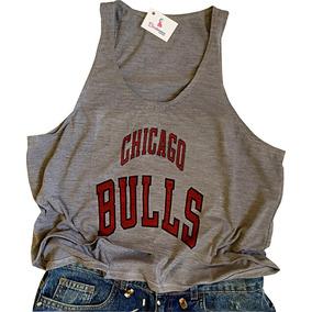 Regata Cropped Feminina Chicago Bulls Basquete Lançamento! 90afa4df21668