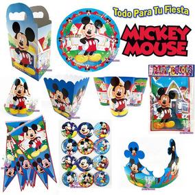 Fiesta Mickey Mouse Platos Vasos Cajitas Dulceros Bolo