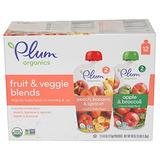 Plum Organics Bebé Alimento De La Fruta Y Del Veggie Mezclas