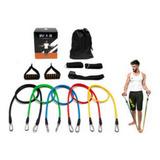 Kit Tubing Elástico Extensor Pilates Funcional Exercícios
