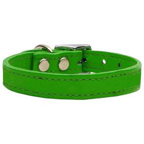 Llanura Cuero Collares Esmeralda Verde 18
