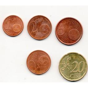 Cinco Moneda Centavos De Euro Todas Las La Foto A1 100j