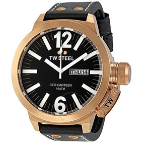 Tw Steel Mens Ce1022 Ceo Canteen Black Leather Dial Watch