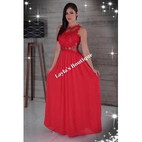 b1d2a19a94 Vestidos Para Fiesta De Gala Mujer Noche - Vestidos de Mujer Rojo en ...