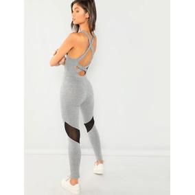 Jumpsuit Palazo Jaspe Espalda Cruzada Blusas Dama Ropa Mujer