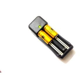 Kit Carregador Duplo + 2 Baterias 16340 3,7v / 4,2v 5800mah