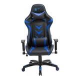 Cadeira Gamer Youtuber Azul Preta Verm Reclinável Couríssimo