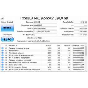 Disco Duro 320 Gb Sata 2.5 Laptop Toshiba