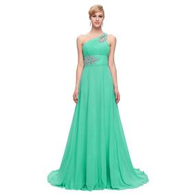 Vestidos de noche color verde claro