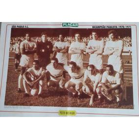 Pôster Nostalgia São Paulo Bi-campeão Paulista 1970/1971