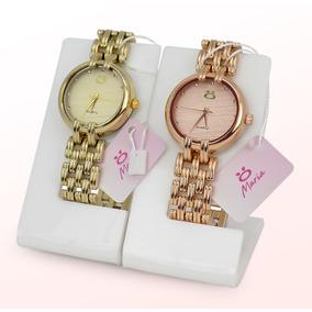 Kit 2 Relógios Feminino Dourado 100%original Barato Promoção