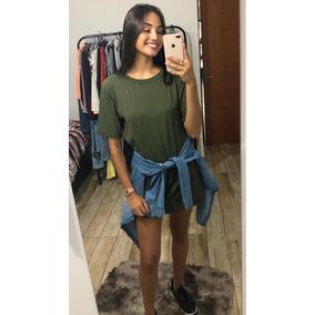 Blusão Camisão Feminino Vestido Oncinha Camuflado + Brinde
