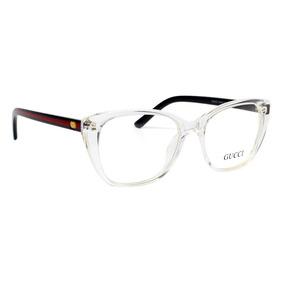 f4fa1d1b1c67e Armação De Para Grau Gucci Xh58659-10 Oculos Transparente