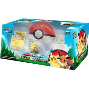 Coleção Poké Bola Pikachu E Eevee Pokémon Estampas Ilustrada