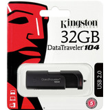 Pendrive Kingston 32gb Dt 104 Usb 2.0 Original 100%
