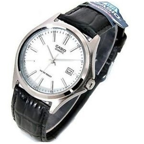 Relógio Casio Social Mtp1183 Couro Branco 100% Original