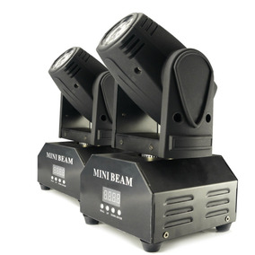Kit 2 Mini Beam Moving Head Led 12w Cree Rgbw Dmx Strobo Pro