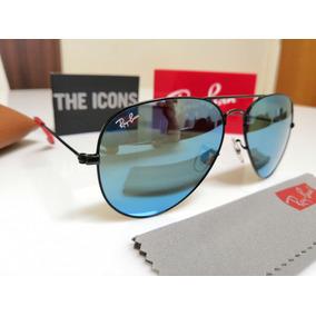 Óculos Sol Ray-ban Aviator Scuderia Ferrari Azul Espelhado. dac0af63e4