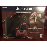 Ps4 Pro 1tb Edicion Monstr Hunter Sony Playstation 4+2 Juego