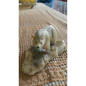 Urso Esculpido Bem Trabalhando Pedra Natural Gemstone