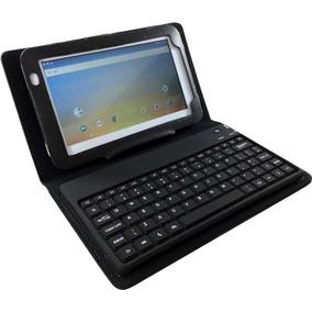 Capa Com Teclado Bluetooth Para Tablet 7 Polegadas Com Apoio