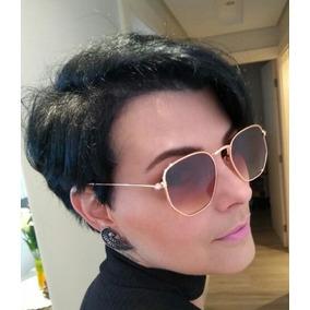 Marrom Importado Style Hb Oculos Sol Feminino Dourado C - Óculos no ... 76f720674f