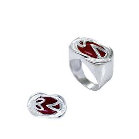 Anel Pedra Vermelha Oval - Joias e Relógios no Mercado Livre Brasil 7c9973b43d