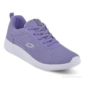 Tenis Sneaker Lotto Dama Memory Foam Textil Lila 80536 Dtt