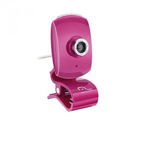 Web Cam Multilaser Wc048 16 Mp Interpolados Plug & Play Rosa
