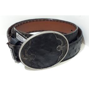 Cinturón Vaquero Cuadra De Avestruz Cvet1a1