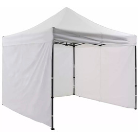 Carpa Toldo 3x3 Plegable Lona Impermeable Con Paredes
