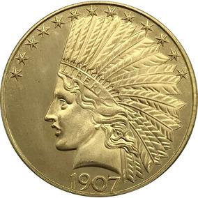 90237271026f Moneda Antigua 1907 Estados Unidos 10 Dólares Oro 24k 12 Msi