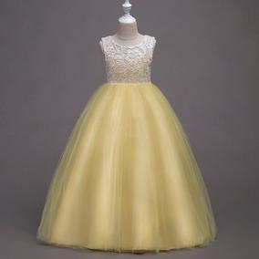 Vestidos de fiesta para nina color amarillo